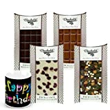 Chocholik Luxury Chocolates - Retro Collection Of Yummy Chocolates Bars With Birthday Mug