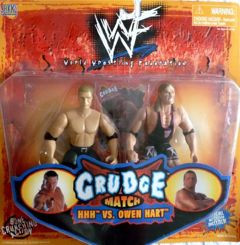 WWE Jakks Pacific Wrestling Action Figures Grudge Match Triple H vs. Owen Hart 2-Pack