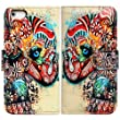 Casea Packing Colorful Floral Elephant Card Slot Wallet Leather Cover Case For iPhone 5 5G 5S