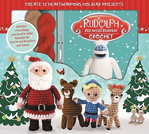 Rudolph the Red-Nosed Reindeer Crochet - From bouncing Bumbles to Yukon gold, you'll love these adorable amigurumi figures from the classic television special Rudolph the Red-Nosed Reindeer! This cheerful kit contains all the materials you'll need to create Rudolph and Santa. Colorful photos and step-by-step directions in the 76-page instruction book will also guide you through crafting the Bumble, Charlie-in-the-Box, Dolly, Spotted Elephant, Hermey, Moonracer, Mrs. Claus, Clarice, Sam the Snowman, and Yukon Cornelius. Warm up your crochet hook for this group of charming holiday characters!