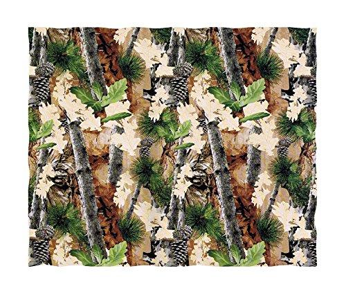 Super Soft Woodsy Camouflage Fleece Throw Blanket front-892624