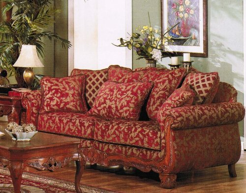 Sofa Best Top Sellers Sofa Couch Burgundy Amp Gold Floral