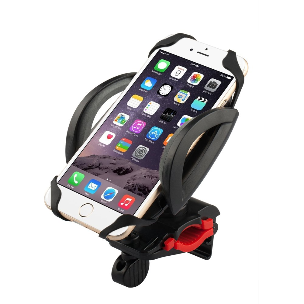 Bike Mount, E-TRENDS® (Secure Hold) Bike, Motorcycle, Handlebar, Roll Bar Mount for Smart Phones, Apple iPhone 6s Plus/ 5S, Samsung Galaxy S6, Note 5, Nexus, HTC, GPS Holder and More