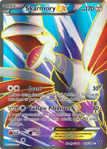 Skarmory EX Full Art 145/146 Xy Pokemon Card - 1