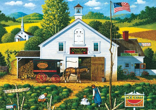 Buffalo Games Charles Wysocki:  Catchin Bugs - 300 Piece Jigsaw Puzzle by Buffalo Games