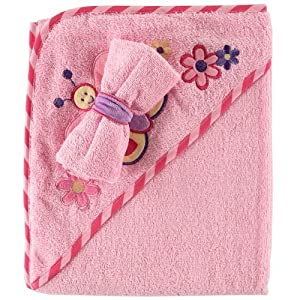 Luvable Friends Fancy Hooded Bath Wrap, Pink