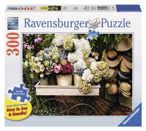 Flowers and Hats Large Format Jigsaw Puzzle (300-Piece)