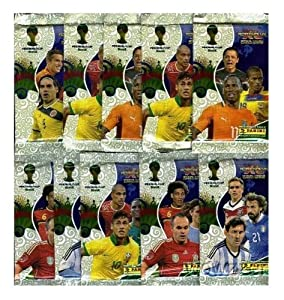 2014 Panini Adrenalyn XL FIFA World Cup Brazil Lot of TEN(10) Factory Sealed Foil Booster Packs ! Includes 60 Brand New Mint World Cup Cards !