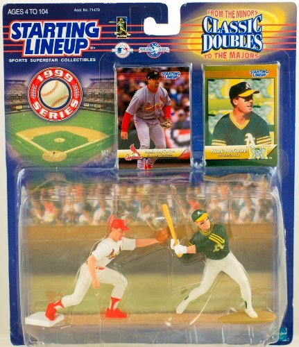 1999 - Hasbro - Starting Lineup - Classic Doubles - From Minors to Majors - Mark McGwire Action Figures - w/ Trading Cards - Modesto A's to St. Louis Cardinals - Rare - New - Limited Edition - Collectible - 1