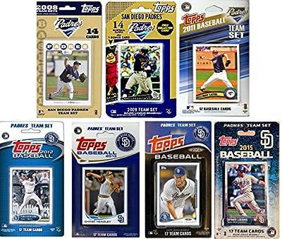 MLB San Diego Padres Men's 7 Different Licensed Trading Card Team Sets