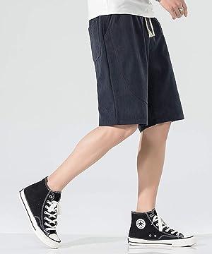 ショートパンツ メンズ ハーフパンツ 5分丈 短パン 男 無地 ゆったり 通気性 大きいサイズ