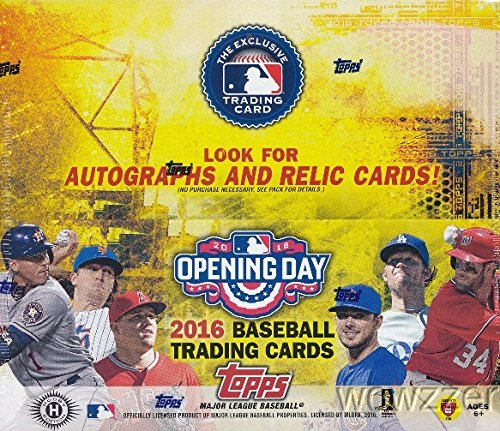 2016 Topps Opening Day Baseball Cards Hobby Box