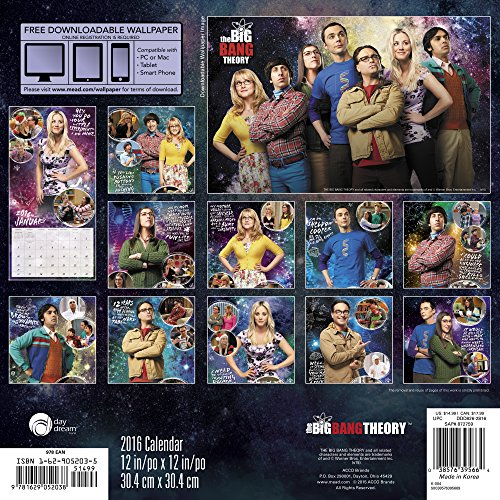 The Big Bang Theory 2016 Calendar: Free Downloadable Wallpaper Included
