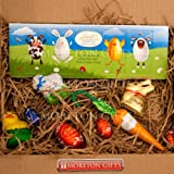 Lindt Chocolate Easter Spring Time Small Treat Box, Heads & Toes Chocolate Bar, Lamb, Chick, Bunny, Carrot, and Lindor Eggs - Great Easter Gift - By Moreton Gifts