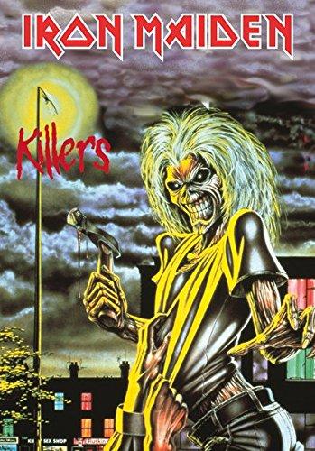 Heart Rock Licensed Bandiera Iron Maiden - Killers, Tessuto, Multicolore, 110X75X0,1 cm