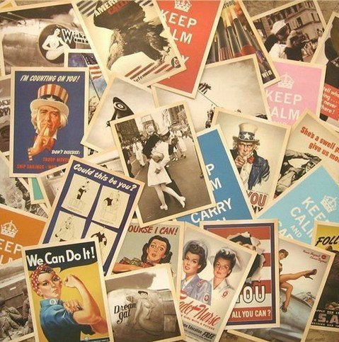 DPIST® 32 PCS 1 Set Vintage Retro Old Travel Postcards for Worth Collecting [World War II ] (World Postcards compare prices)