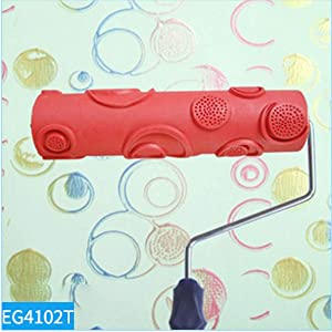 MXCELL Embossed Paint Roller 10 inch Rubber Wood Pattern Graining Knurling Tool for Wall Decoration (Tamaño: EG4102T)