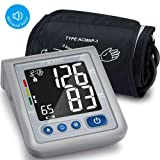 MIBEST Blood Pressure Monitor with Talking Function - Blood Pressure Cuff with Large Display - 8.7-12.6 BP Monitor Machine - One Touch BP Cuff - Bloo