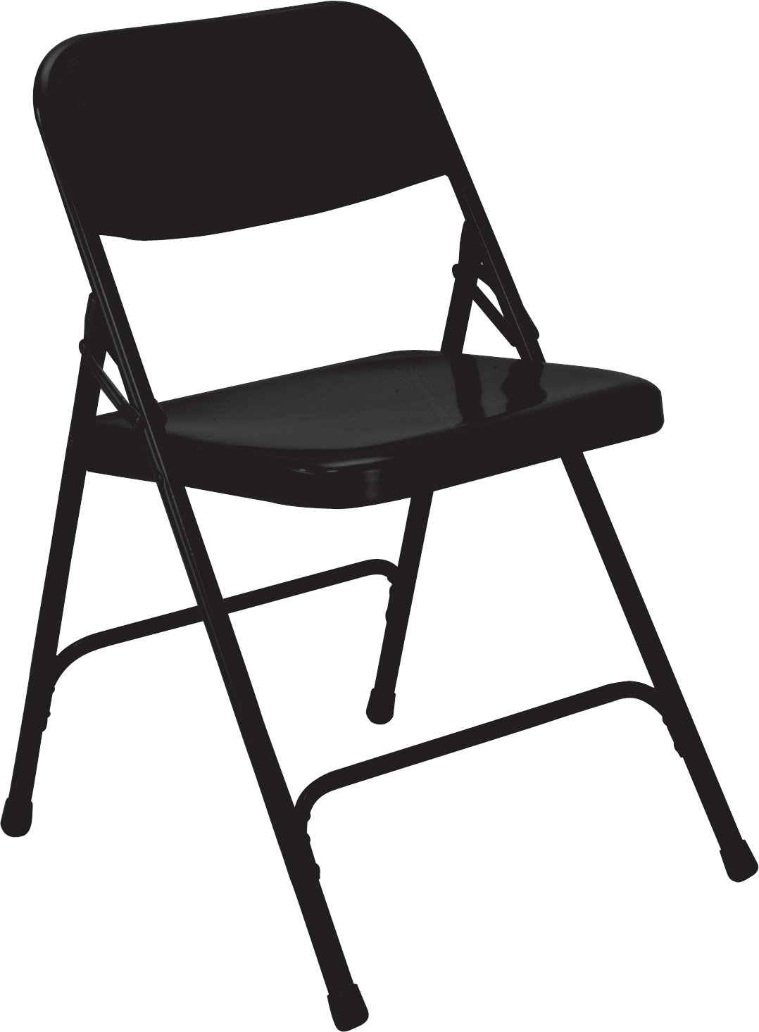 National Public Seating Folding Chair - 18-1/4 X20-1/4 X29-1/2 - Single U-Brace - Blue - Lot of 4