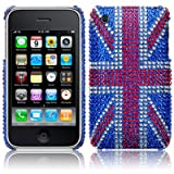 iPhone 3GS / 3G Original Union Jack Diamante Case / Cover / Shell / Shield Part Of The Qubits Accessories Rangeby Qubits