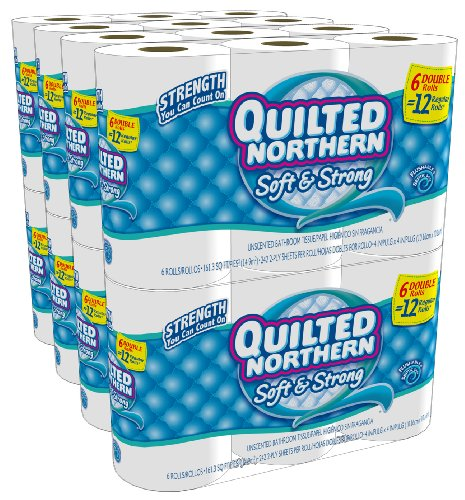 Quilted Northern Soft and Strong Double Rolls, 6 Rolls, Pack of 8 (48 Rolls) (Packaging May Vary)