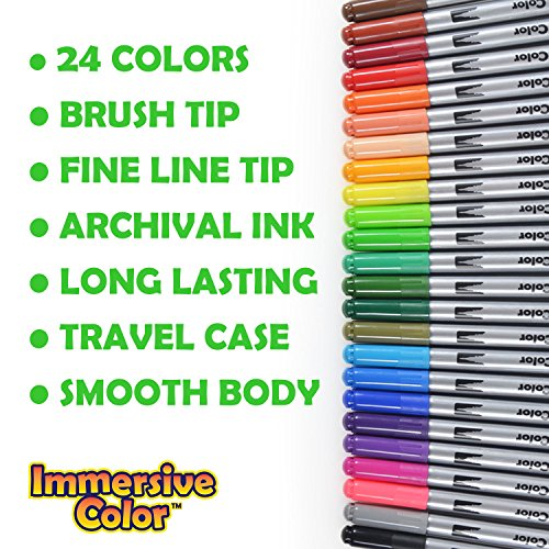 Dual-Tip-Brush-Pens-with-Fineliner-Tip-24-PACK-No-Duplicates-Paint-Brush-Markers-Ink-Tip-and-04mm-Fine-line-tip-on-the-other-side-Perfect-for-Artists-Watercolor-Sketching-Coloring-and-More