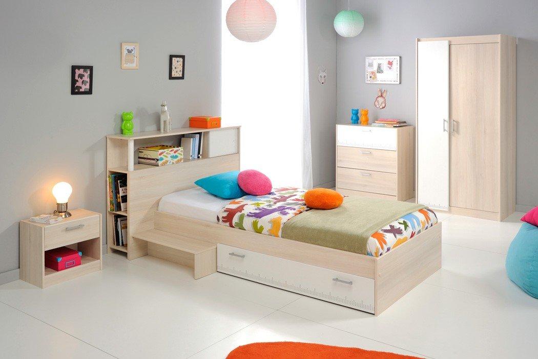 Jugendzimmer Chiron 16 Akazie Nb Jugendbett 90×200 Kinderbett Bett Regal Nachttisch Nako Kommode Kleiderschrank Schrank Kinderzimmer günstig online kaufen