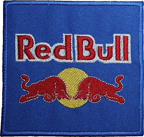 """Red Bull, con Logo ricamato, colore: blu-10,16 cm (4"""") cucire o stirare su"""