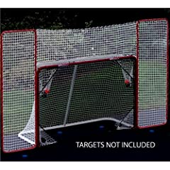 Buy EZGoal Hockey Backstop, Red White by EZGoal