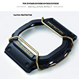 Supachis Watch Screen Protectors, Wire Watch Guard Protector Compatible with Casio Watch Case DW-5600 / GW5000 / GW5030 / GW5035 100% Metal Stainless Steel Bull Bar, Gold (Color: Shining Gold)