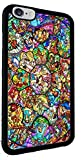 Disney All Characters Stained Glass Iphone 6 Rubber Case Black