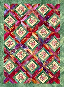 Trellis garden quilt pattern by joen wolfrom for Garden trellis designs quilt patterns