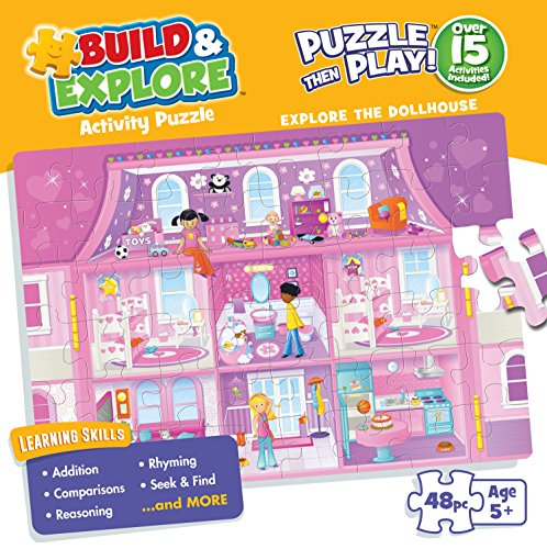 Buffalo Games Kid's Jigsaw Puzzle: Explore the Dollhouse - 48 Pieces