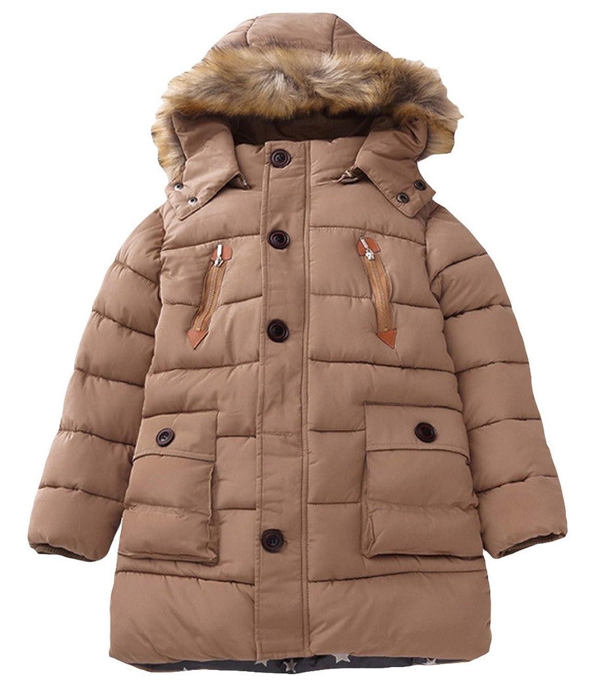 Kinder Jungen Jacket Gefütterte Gesteppte Winterjacke mit abnehmbarer Kapuze online kaufen