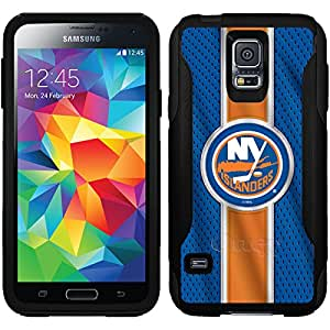 Coveroo New York Islanders Jersey Stripe Design Phone Case for Samsung Galaxy S5 - Retail Packaging - Black