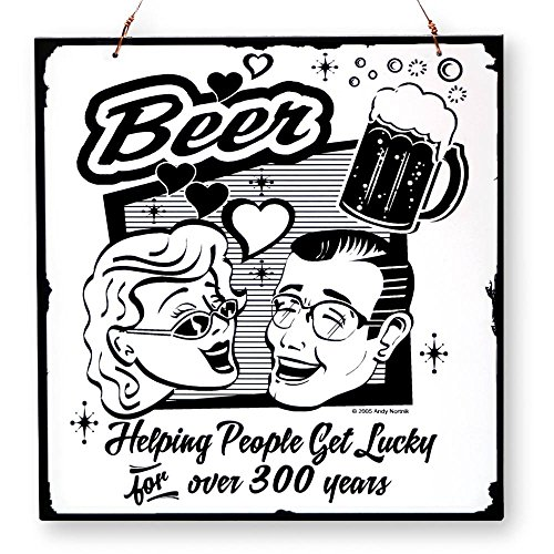 Beer And Brew Good-Times Getting Lucky Hang/Desk Laser-Etched Plaque front-356298