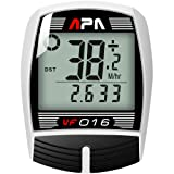 DREAM SPORT Cycle Computer Wired, Accurate Speedometer for Bike with Trip Distance and Timer, Waterproof Durable Bicycle Computer (Color: white)