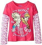 Disney Little Girls' Anna and Elsa Strong Bond Long-Sleeve Twofer Shirt