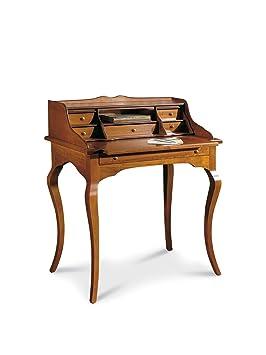 Lo Scrigno Arredamenti, Scrittoio/Scrivania 7 cassetti piano estraibile Classico noce W532/N