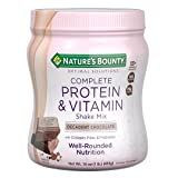 Nature's Bounty Optimal Solutions Protein Shake Chocolate, 16 Ounce Jar, Protein and Vitamin Shake Mix for Women, with Added Nutrients (Color: Brown, Tamaño: 16 ounce)