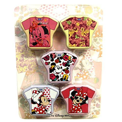 ミニー ミニーマウス 缶入り キャンディー 飴 Tシャツ柄 5缶セット お菓子 ( 東京 ディズニーリゾート限定 ディズニー グッズ )