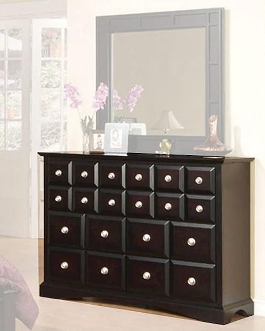 Najarian Furniture Palazzo Dresser in Ebony Finish NA-PADRE