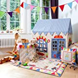 Large Toy Shop 100% Cotton Embroidered and Appliqued Playhouse