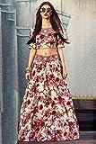 Silk Net and Bhagalpuri Party Wear Lehenga Choli in Cream and Maroon Colour