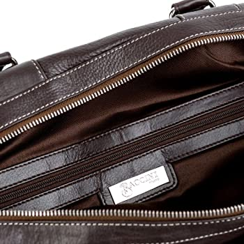 BACCINI travel bag TOBY - weekender leather brown - sports bag 2