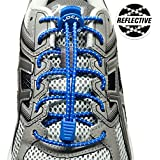 LOCK LACES Reflective (Elastic No Tie Shoelaces)