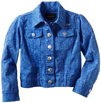 Baby Phat - Kids Little Girls' Animal Print Jacket, Blue, 3T