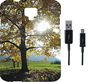 BKDT Marketing Printed back Cover for Panasonic T40 with Charging Cable