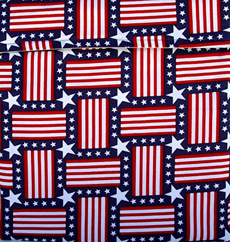 """Premium Microwave Potato Bag With Recipes - Patriotic Stars And Stripes - Approximately 10"""" X 10"""" - 100% Pure Cotton Material, Lined And Insulated - Handmade In The Usa - Also Great For Corn On The Cob, Sweet Potatoes, Carrots, Broccoli, Asparagus Or Warm"""