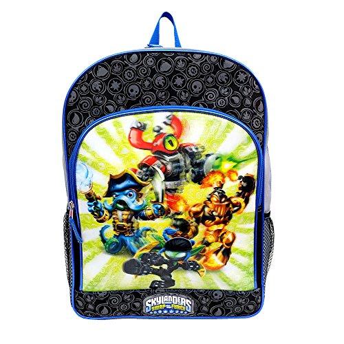 Skylanders Swap Force 16 Inch Backpack - Black With Blue Trim